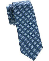 Kiton Dot-print Silk Tie - Blue