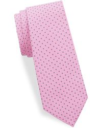 Saks Fifth Avenue - Basket-weave Silk Tie - Lyst