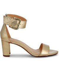 Nine West Crinkled Metallic Ankle-strap Sandals