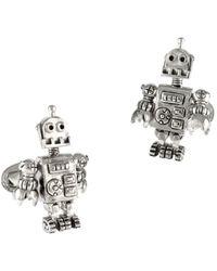 Jan Leslie Robot Moves Sterling Silver Cufflinks - Metallic