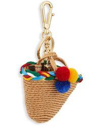 Dolce & Gabbana Women's Straw Basket Keychain - Blue