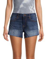 Vigoss Marley Mid-rise Denim Cutoff Shorts - Blue