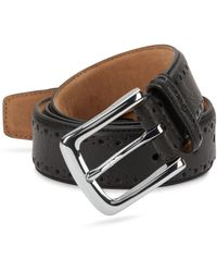 Cole Haan Perforated Leather Belt - Brown