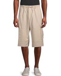 Y-3 Wool-blend Cargo Shorts - Natural
