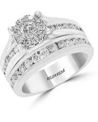 Effy 14k White Gold & Diamond 2-piece Engagement Ring & Wedding Band Set - Metallic