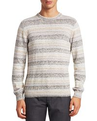 Saks Fifth Avenue Collection Cotton Space Dyed Jumper - Natural
