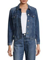 3x1 Women's Hollow Denim Jacket - Blue - Size Xs