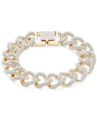 Adriana Orsini Goldtone & Crystal Bracelet - Metallic