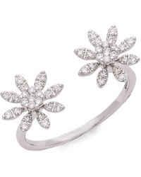 Alor 14k White Gold Diamond, Onyx & Sapphire Evil Eye Charm Bracelet - Multicolour