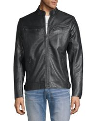 Affliction - Liberty Faux Leather Moto Jacket - Lyst