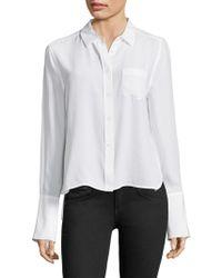 Equipment Huntley Silk Button-down - White