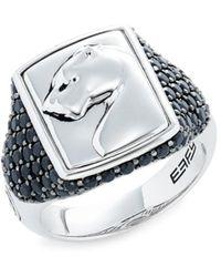Effy - Men's Sterling Silver & Black Spinel Ring - Size 10 - Lyst