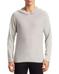 Saks Fifth Avenue Modern Garment-dyed Cotton Hooded Jumper - Gray