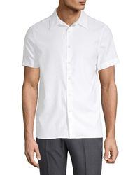 Perry Ellis Men's Point Collar Button-down Shirt - Black - Size S