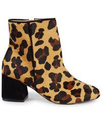 Schutz Mery Leopard-print Faux Fur Boots - Natural