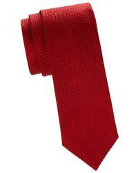 Saks Fifth Avenue Men's Textured Silk Tie - Navy - Blue