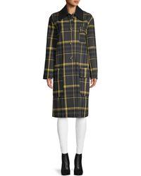 M Missoni Plaid Point-collar Virgin Wool-blend Coat - Black