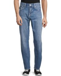 True Religion Ricky Flap Relaxed Straight Jeans - Blue