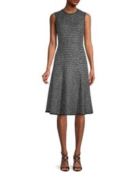St. John A-line Tweed Dress - Black