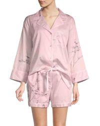 Natori - 2-piece Cotton Pajama Set - Lyst