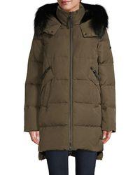 10 Crosby Derek Lam Fox Fur-trim & Faux Fur Lined Down Coat - Black