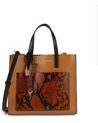 Marc Jacobs Empire City Satchel Bag - Brown