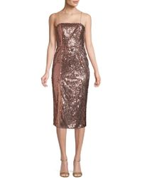 Jay Godfrey - Sequin Sheath Dress - Lyst