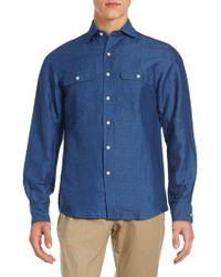 Ralph Lauren Purple Label - Aston Classic Fit Solid Button-down Shirt - Lyst