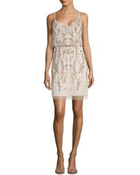 Adrianna Papell - Sequined Blouson Dress - Lyst