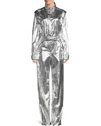 Off-White c/o Virgil Abloh Stand Collar Jumpsuit - Metallic