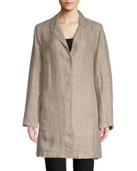 Eileen Fisher - Organic Linen Long Jacket - Lyst