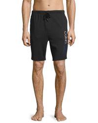 Calvin Klein Men's Logo Cotton-blend Sleep Shorts - Wolf - Size M - Multicolour