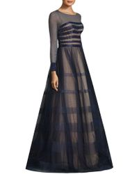 Basix Black Label | Beaded Striped Gown | Lyst