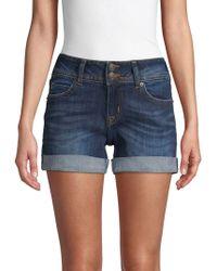 Hudson Jeans - Mid-thigh Denim Shorts - Lyst