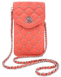 Badgley Mischka Quilted Faux Leather Crossbody Phone Case - Black