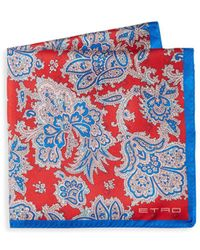 Etro - Floral Silk Pocket Square - Lyst