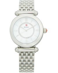 Michele Stainless Steel & Diamond Bracelet Watch - Metallic