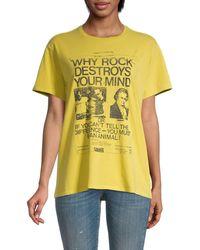 R13 Graphic Cotton Tee - Yellow