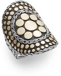 John Hardy Dot 18k Yellow Gold & Sterling Silver Nuansa Ring - Metallic