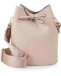 Kendall + Kylie - Mini Leather Drawstring Bucket Bag - Lyst