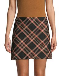 Trina Turk Tartan Plaid Mini Skirt - Black