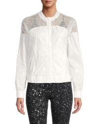 Electric Yoga Women's Slim-fit Windbreaker Jacket - White - Size S