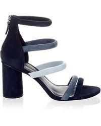 Rebecca Minkoff Andree Suede Sandals - Black