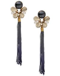Tataborello - Beaded Fringed Drop Earrings - Lyst