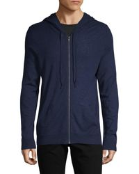 Zadig & Voltaire Men's Full-zip Cashmere Hoodie - Navy - Size L - Blue