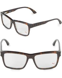 PUMA - 17mm Square Tortoiseshell Optical Glasses - Lyst