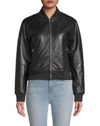 William Rast - Genuine Leather Bomber Jacket - Lyst