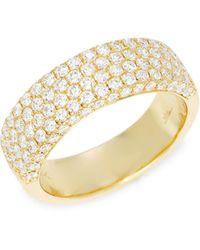Saks Fifth Avenue 14k Yellow Gold Diamond Band Ring - Metallic