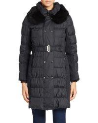 Sam Edelman - Rabbit Fur-collared Puffer Coat - Lyst