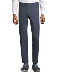 Saks Fifth Avenue Classic Wool Pants - Blue